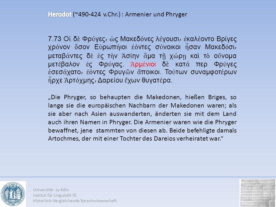 Herodot (~490-424 v.Chr.) : Armenier und Phryger