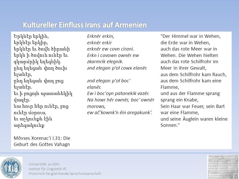 Kultureller Einfluss Irans auf Armenien