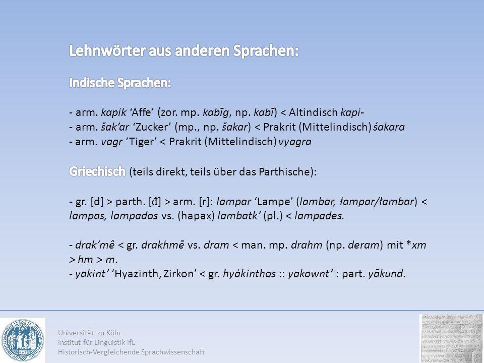 Lehnwörter aus anderen Sprachen: