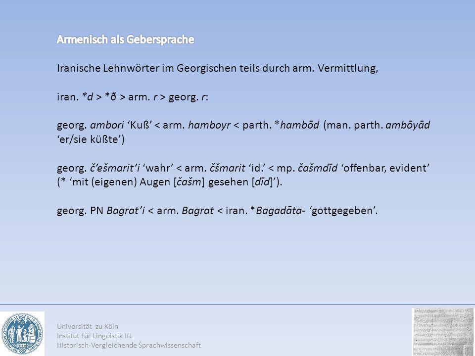 Armenisch als Gebersprache