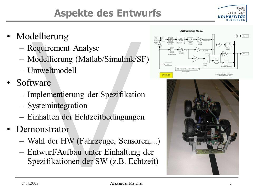 Aspekte des Entwurfs Modellierung Software Demonstrator