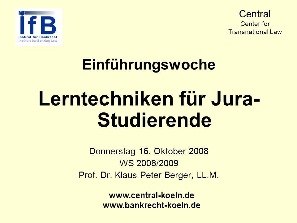 Lerntechniken für Jura-Studierende