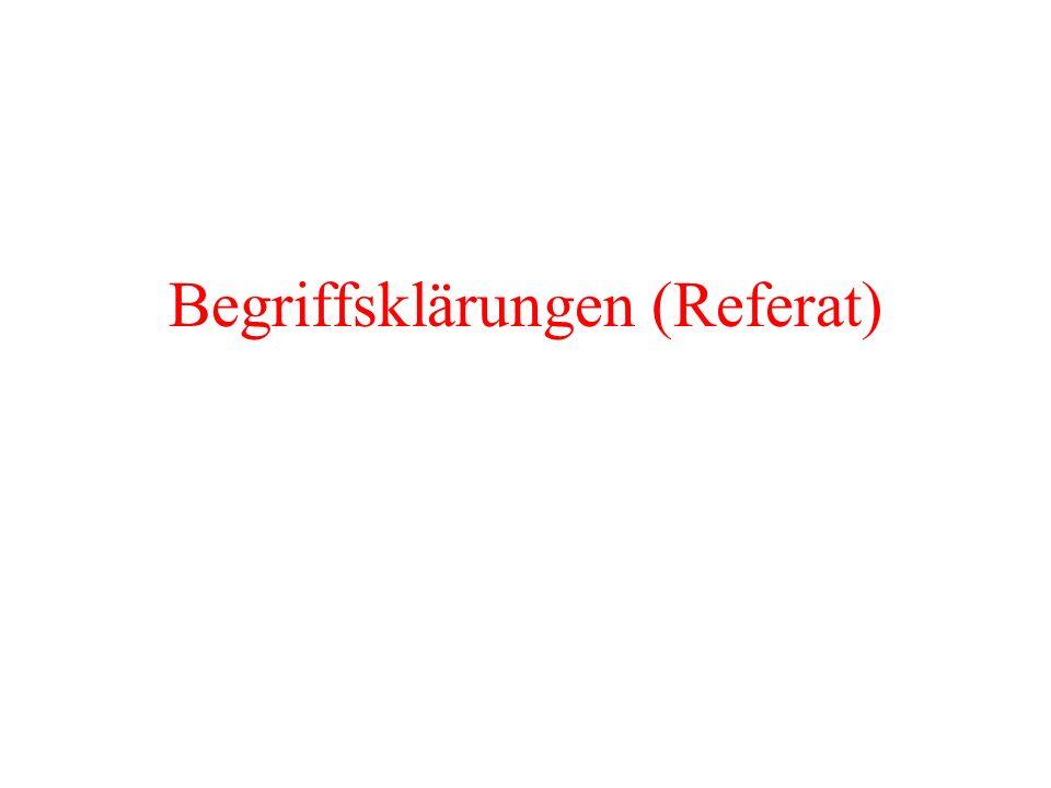 Begriffsklärungen (Referat)