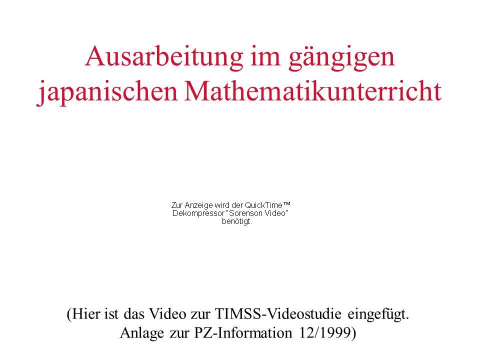 Ausarbeitung im gängigen japanischen Mathematikunterricht