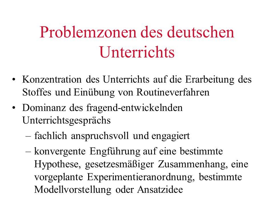 Problemzonen des deutschen Unterrichts
