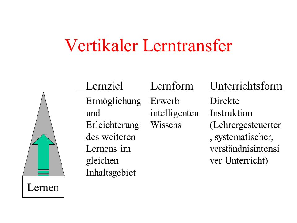 Vertikaler Lerntransfer