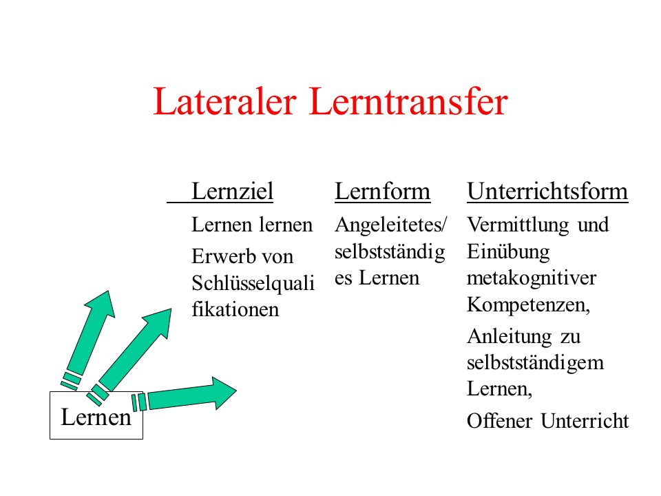 Lateraler Lerntransfer