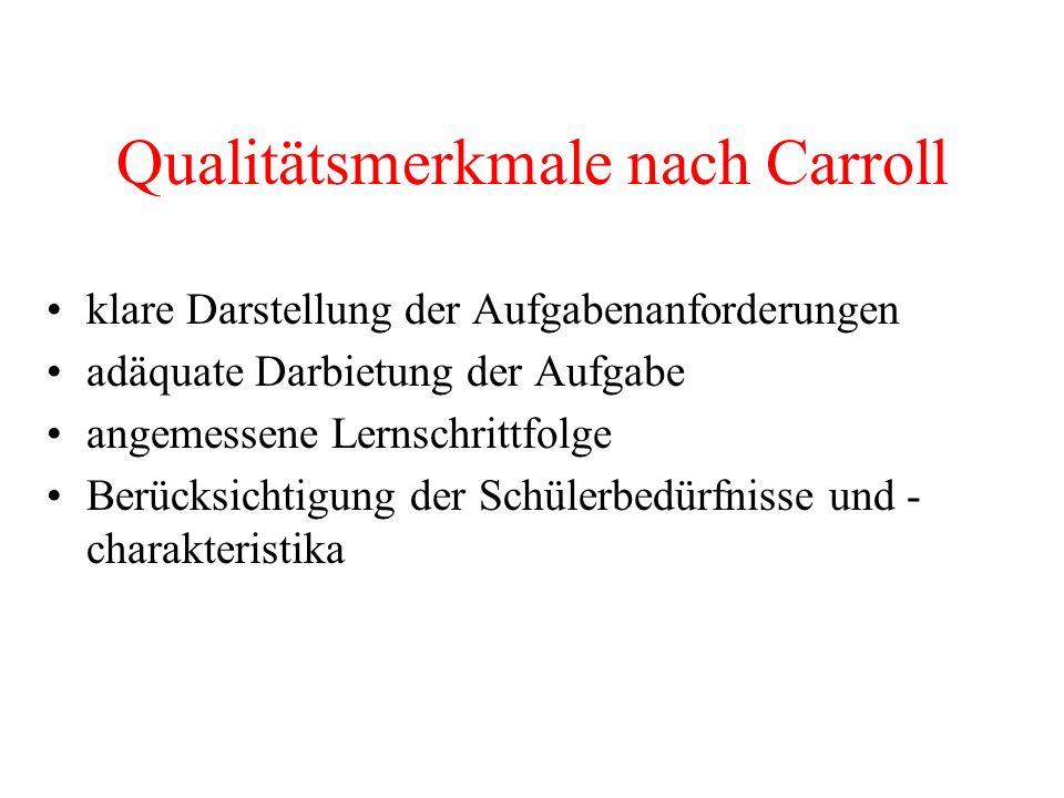 Qualitätsmerkmale nach Carroll