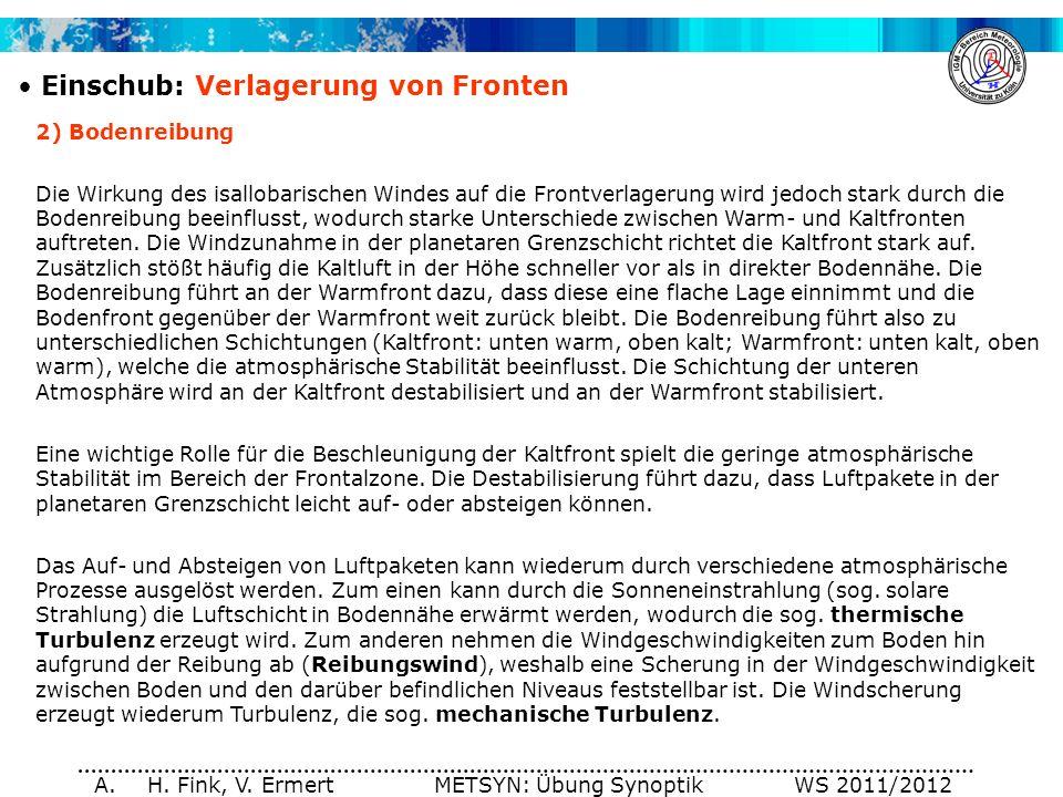 H. Fink, V. Ermert METSYN: Übung Synoptik WS 2011/2012