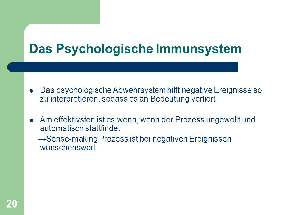 Das Psychologische Immunsystem