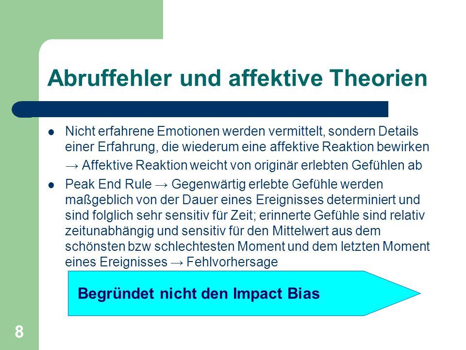 Abruffehler und affektive Theorien