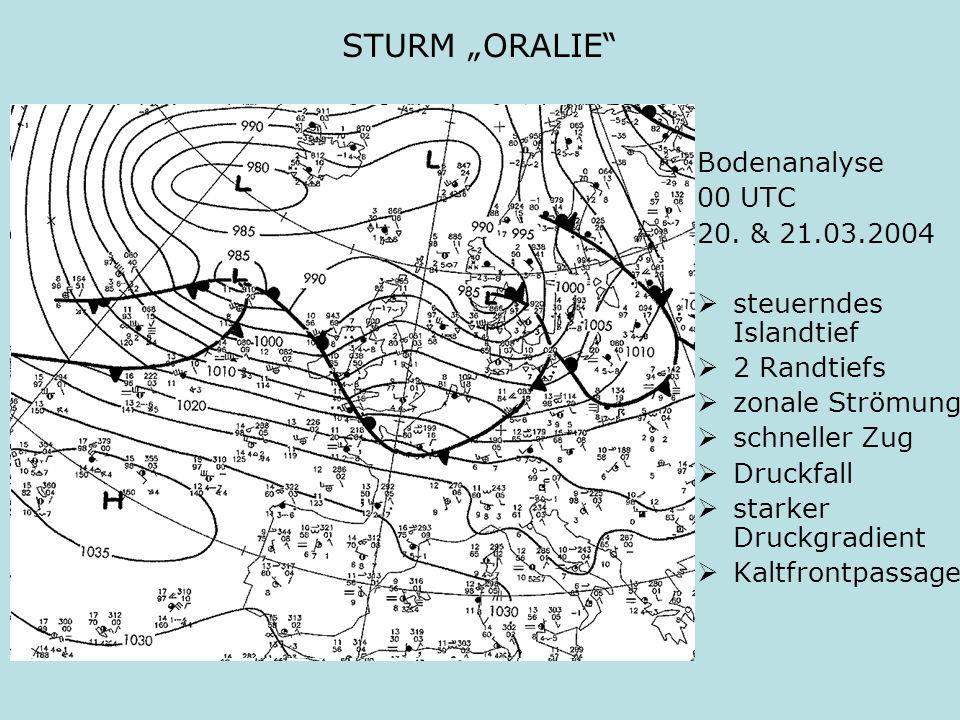 """STURM """"ORALIE Bodenanalyse 00 UTC 20. & 21.03.2004"""