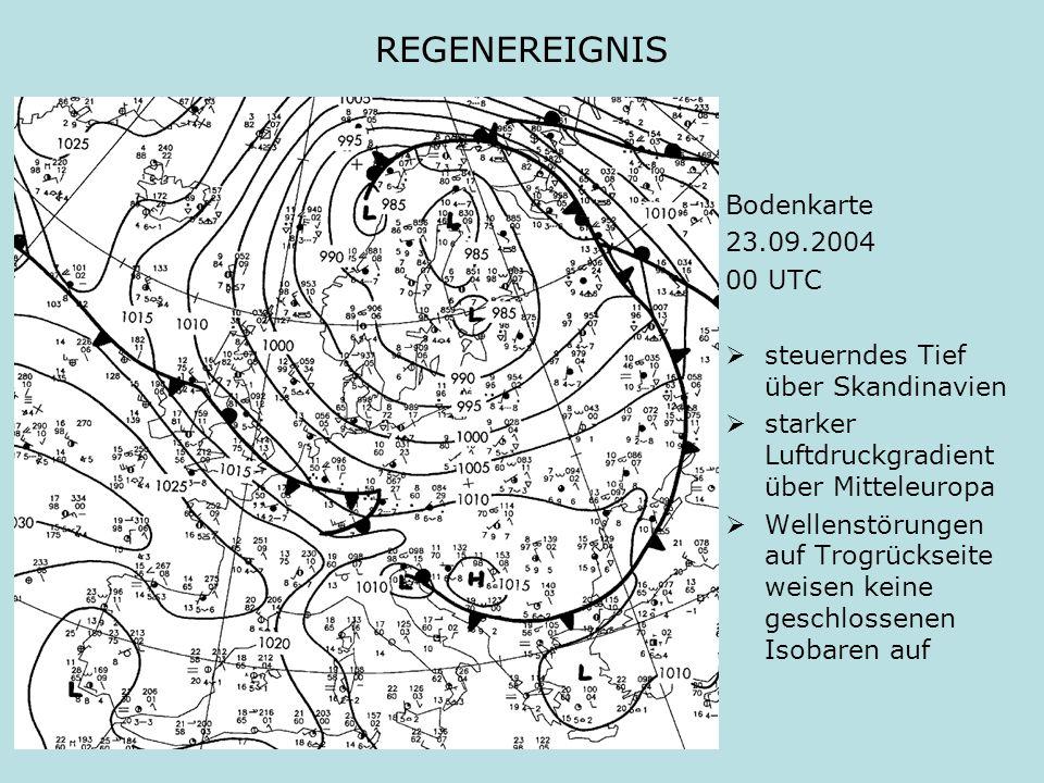 REGENEREIGNIS Bodenkarte 23.09.2004 00 UTC