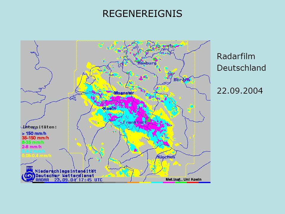 REGENEREIGNIS Radarfilm Deutschland 22.09.2004