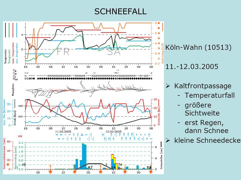 SCHNEEFALL Köln-Wahn (10513) 11.-12.03.2005 Kaltfrontpassage