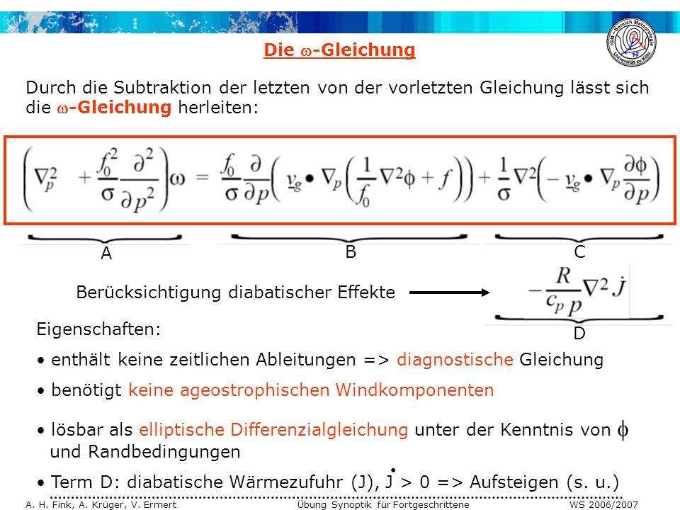 Die -Gleichung Durch die Subtraktion der letzten von der vorletzten Gleichung lässt sich die -Gleichung herleiten: