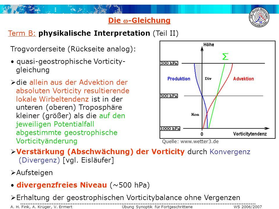Term B: physikalische Interpretation (Teil II)