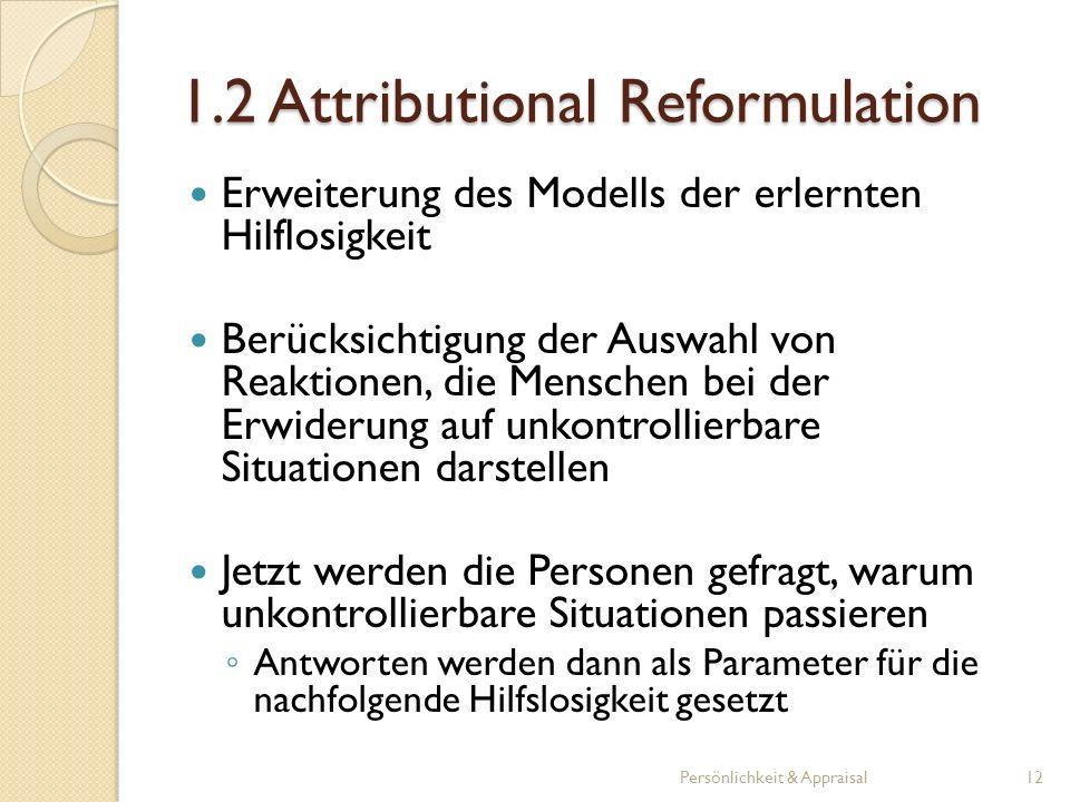 1.2 Attributional Reformulation