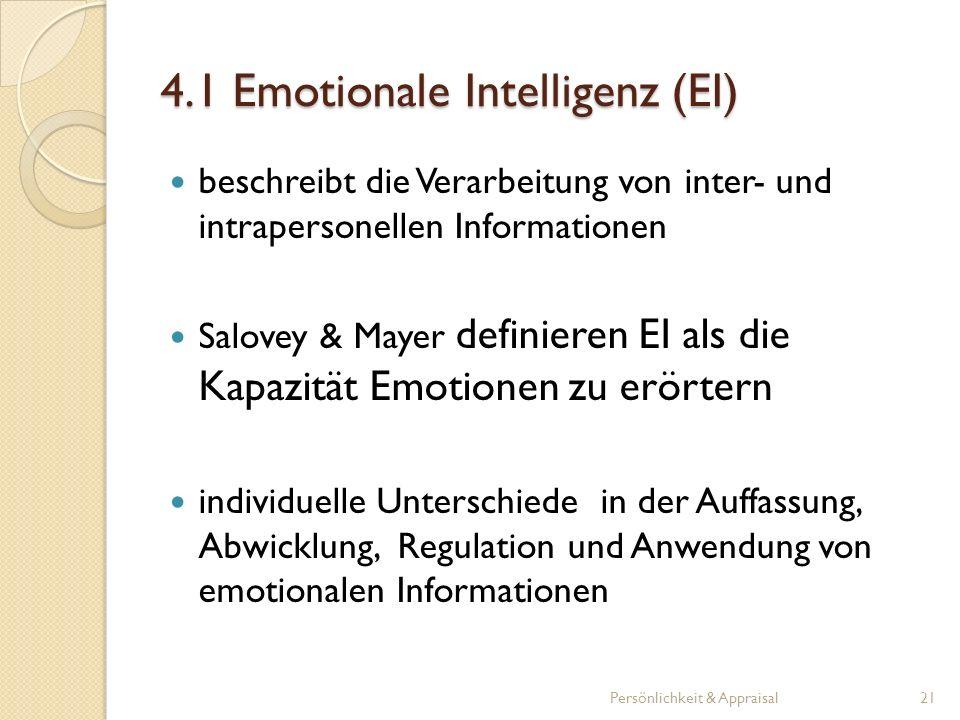4.1 Emotionale Intelligenz (EI)