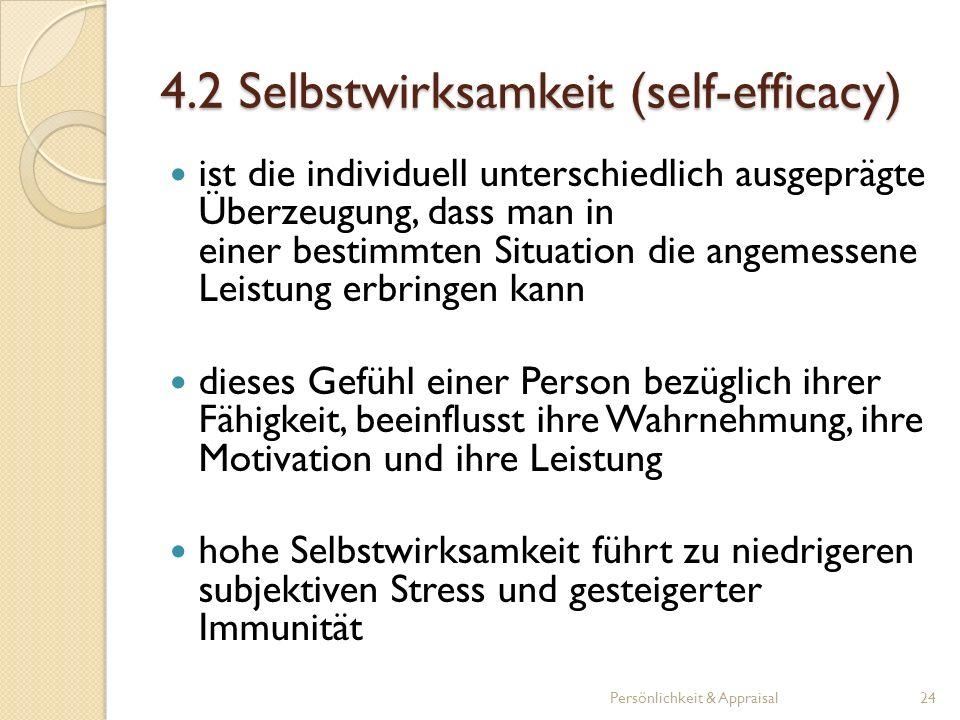 4.2 Selbstwirksamkeit (self-efficacy)