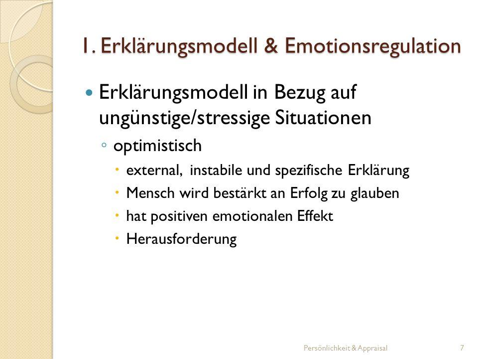 1. Erklärungsmodell & Emotionsregulation