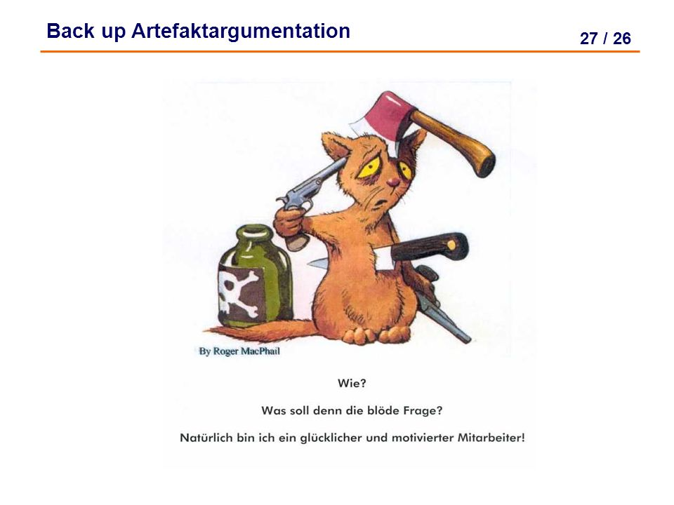 Back up Artefaktargumentation