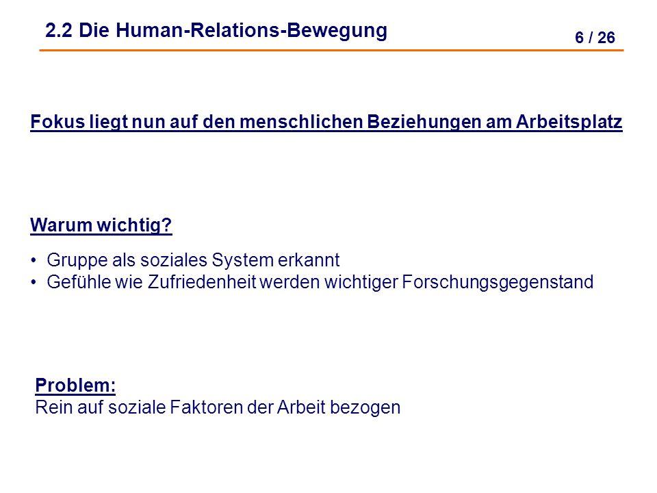 2.2 Die Human-Relations-Bewegung