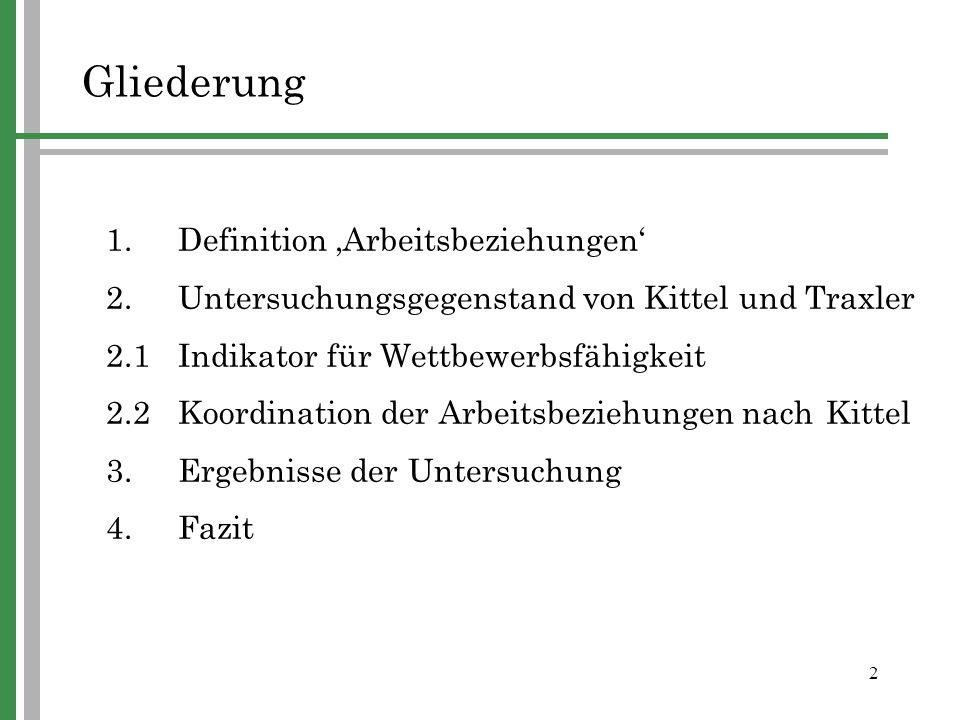 Gliederung 1. Definition 'Arbeitsbeziehungen'