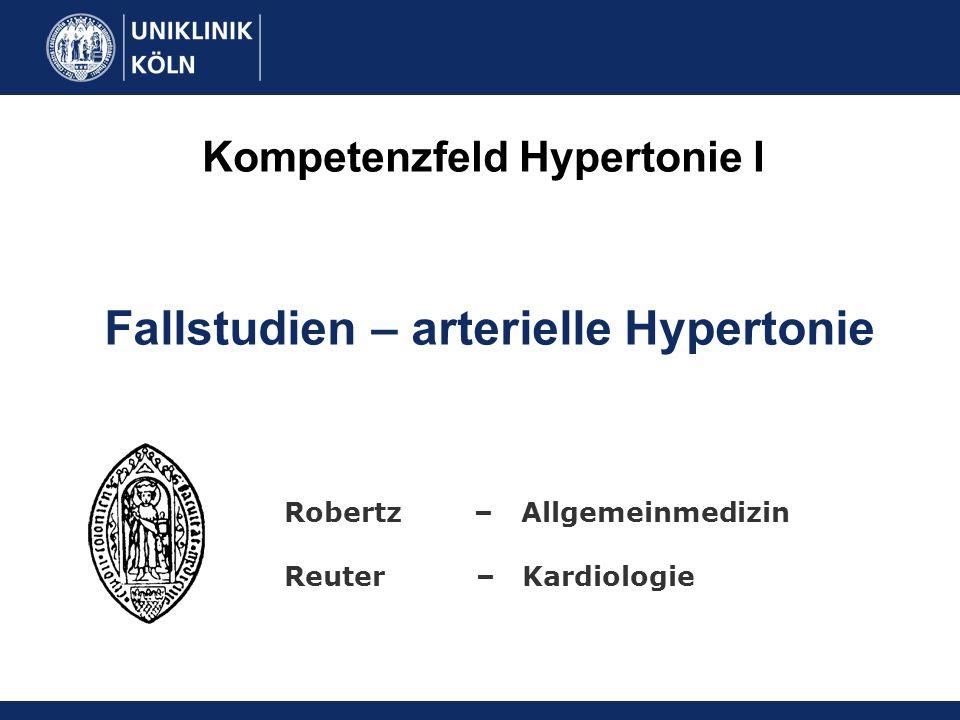 Kompetenzfeld Hypertonie I