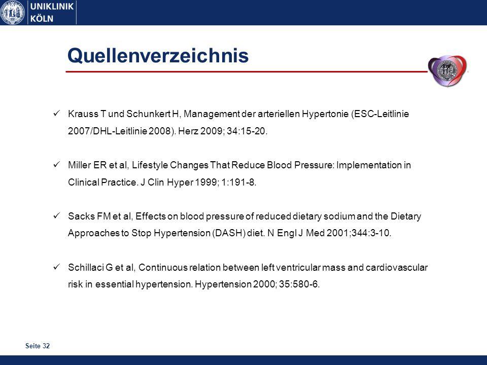 Quellenverzeichnis Krauss T und Schunkert H, Management der arteriellen Hypertonie (ESC-Leitlinie 2007/DHL-Leitlinie 2008). Herz 2009; 34:15-20.