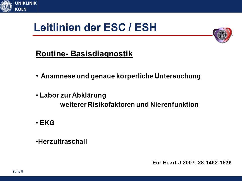Leitlinien der ESC / ESH