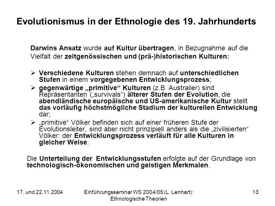 Evolutionismus in der Ethnologie des 19. Jahrhunderts