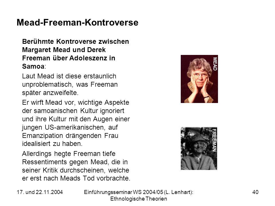Mead-Freeman-Kontroverse