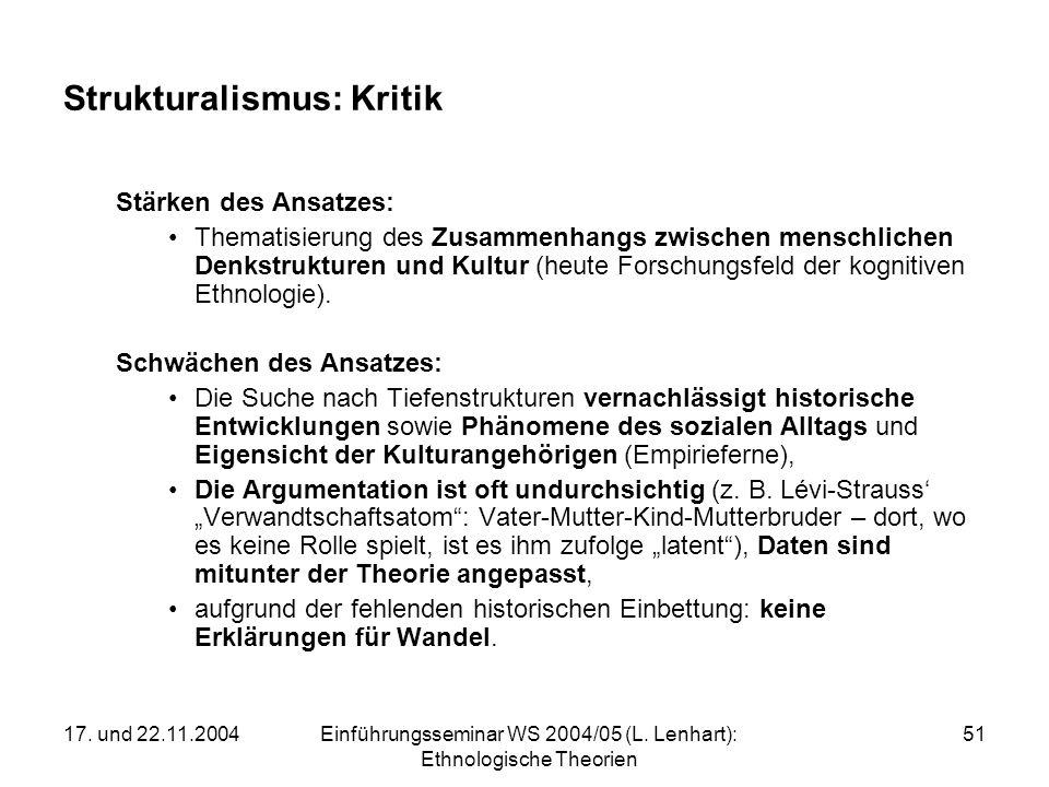 Strukturalismus: Kritik