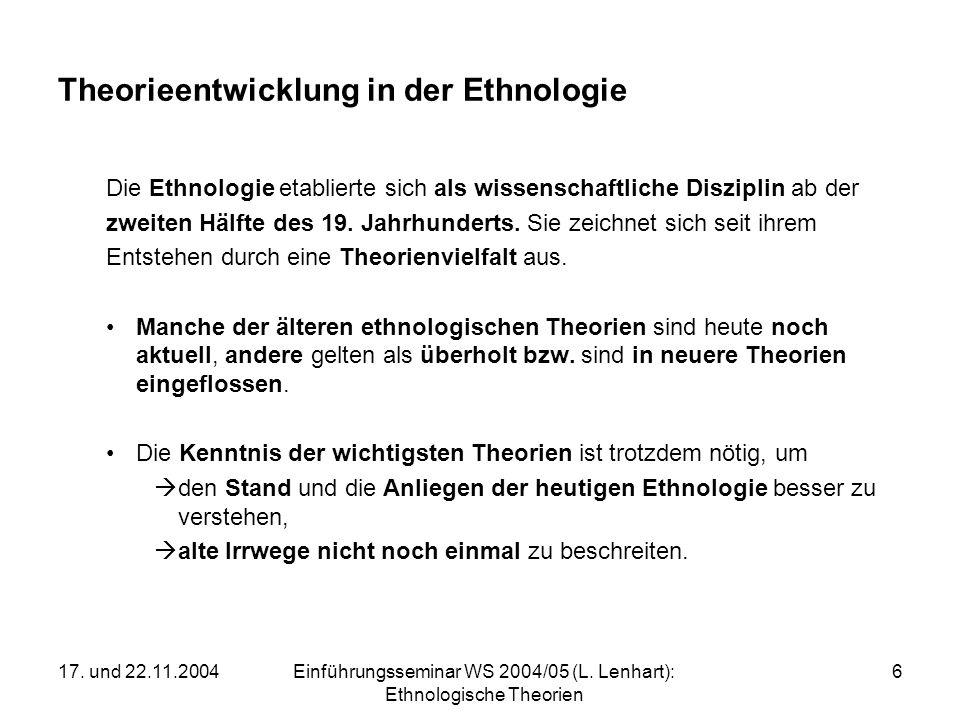 Theorieentwicklung in der Ethnologie
