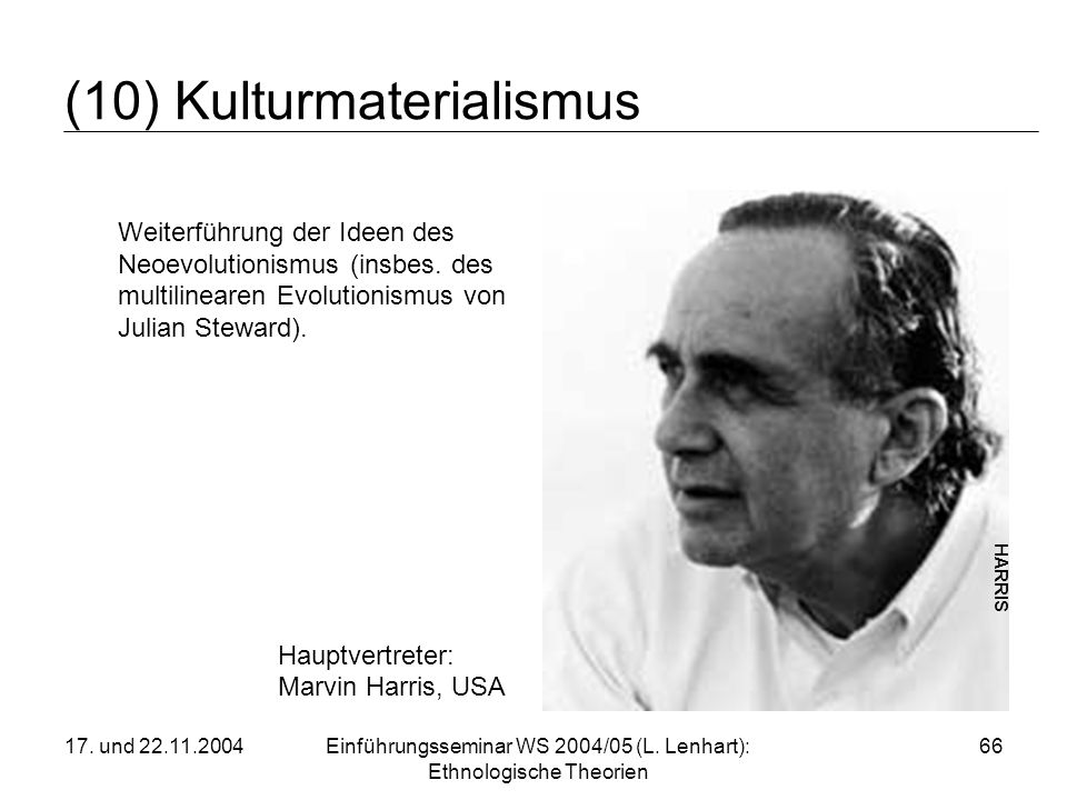 (10) Kulturmaterialismus