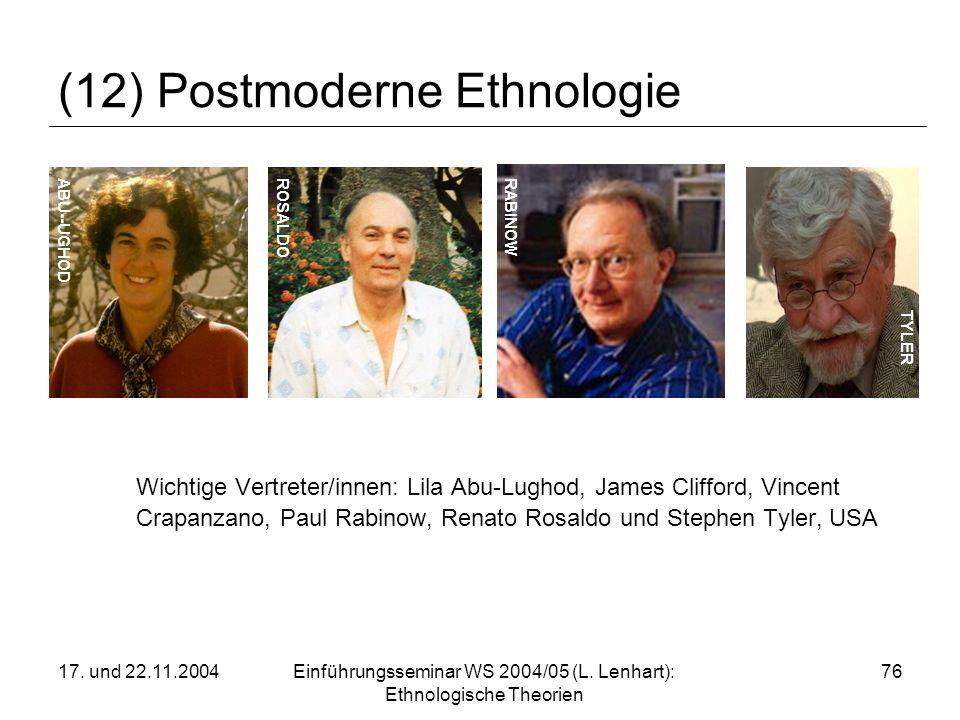 (12) Postmoderne Ethnologie