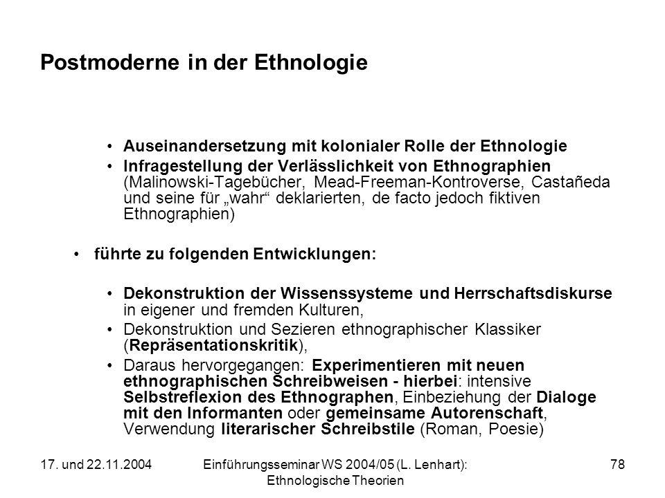 Postmoderne in der Ethnologie