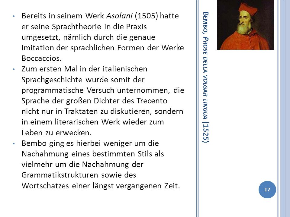Bembo, Prose della volgar lingua (1525)