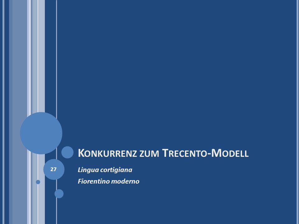 Konkurrenz zum Trecento-Modell