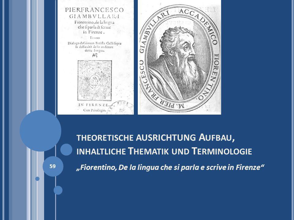 theoretische AUSRICHTUNG Aufbau, inhaltliche Thematik und Terminologie