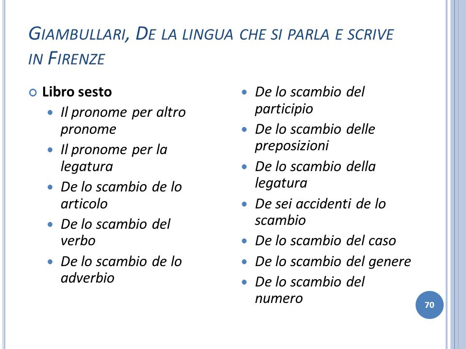 Giambullari, De la lingua che si parla e scrive in Firenze