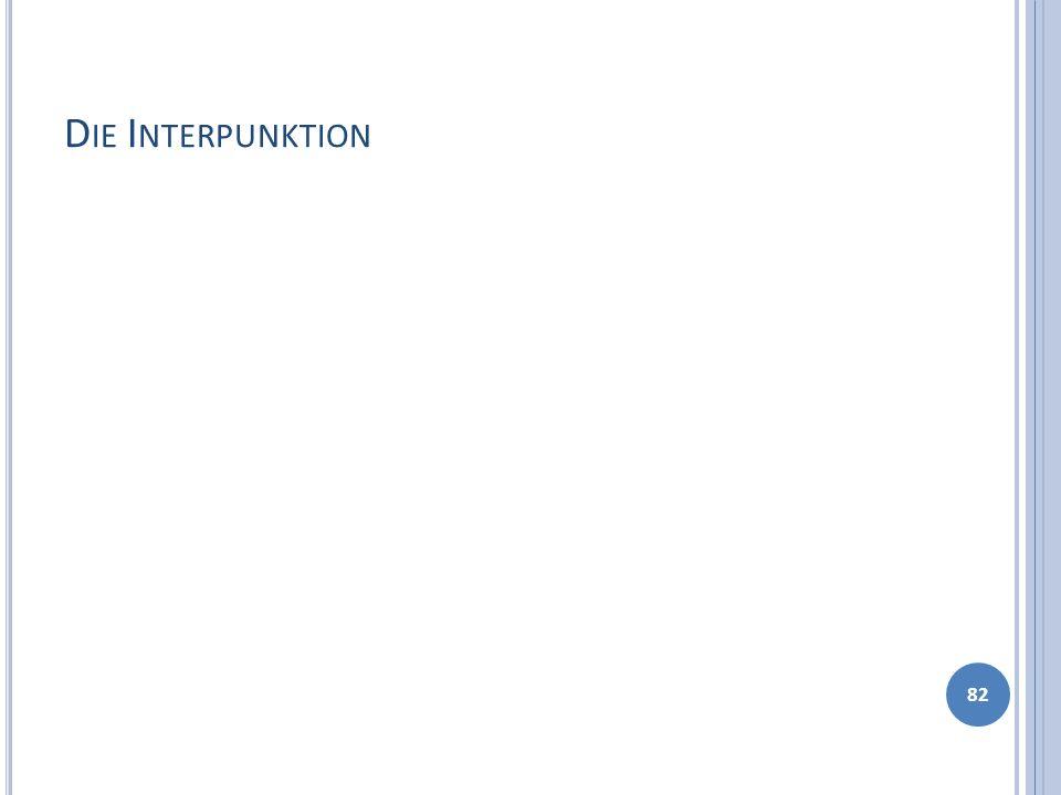 Die Interpunktion