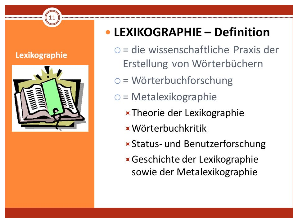 LEXIKOGRAPHIE – Definition
