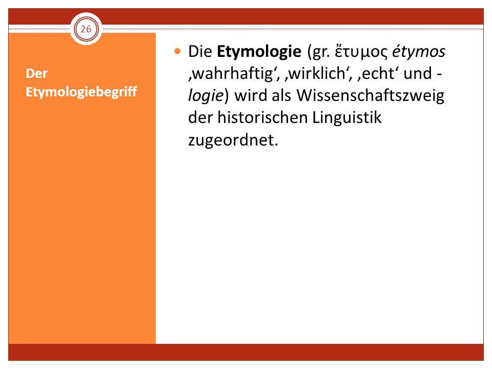 Der Etymologiebegriff