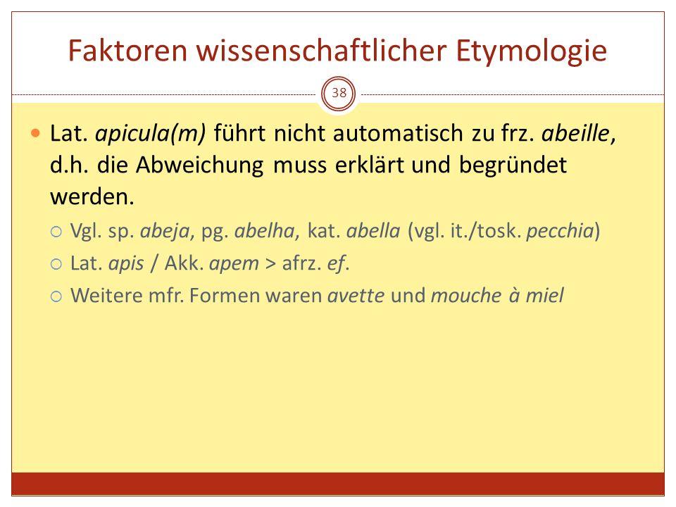 Faktoren wissenschaftlicher Etymologie
