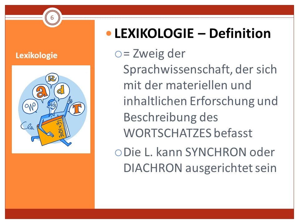 LEXIKOLOGIE – Definition