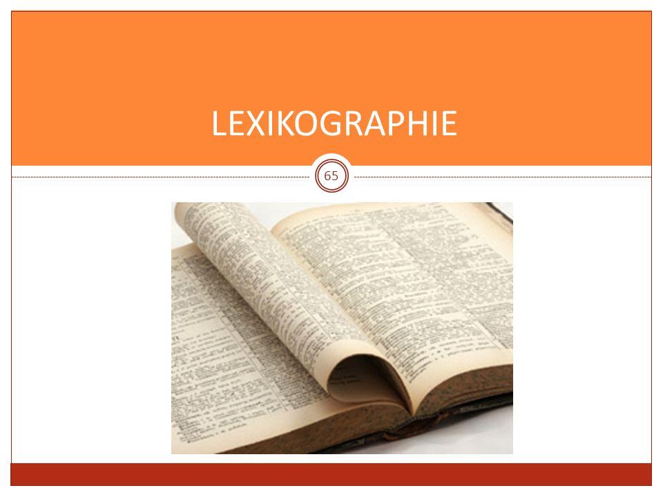 LEXIKOGRAPHIE