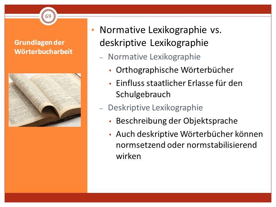 Grundlagen der Wörterbucharbeit