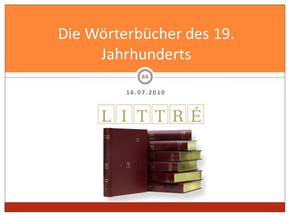 Die Wörterbücher des 19. Jahrhunderts